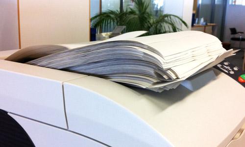 Drucker mit seeeehr viel Papier