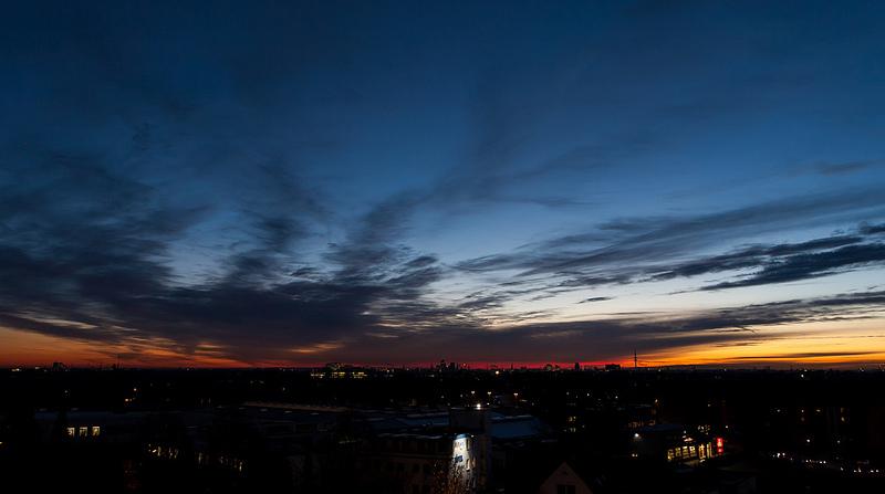 Sonnenuntergang Hamburg 1