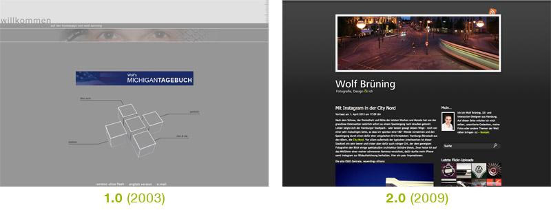 Alte Versionen meiner Website